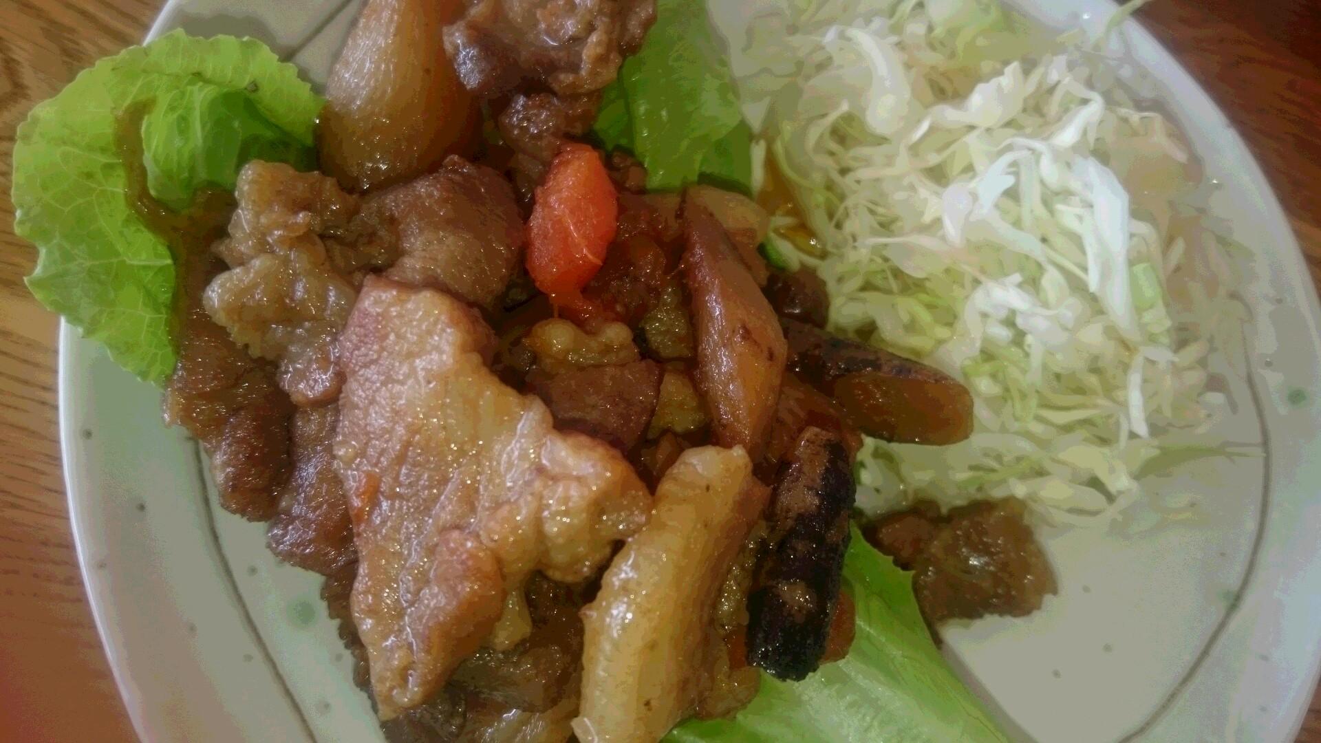 大根と豚バラ肉の炒め煮